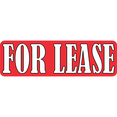 Self Adhesive Vinyl LEASED stickers 760mm x 165mm 20 pack for Real Estate sign