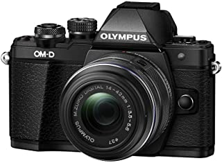 Olympus OM-D E-M10 Mark II Mirrorless Digital Camera with 14-42mm II R Lens (Black)