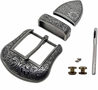 TOME Western Belt Buckles Silver Cowboy Belt Buckles Set Men's belt buckle