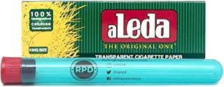 Aleda King Size Transparent Rolling Papers (1 Pack) with Rolling Paper Depot XL Doob Tube
