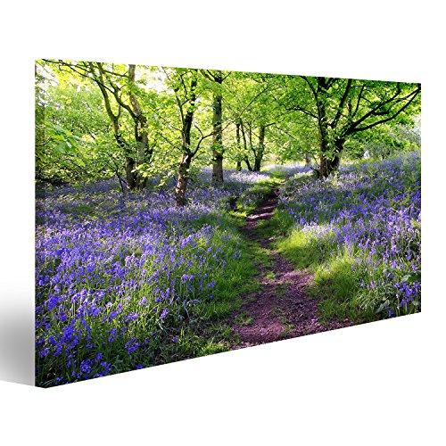 islandburner Bild Bilder auf Leinwand Blumen im Wald Lavendel Poster, Leinwandbild, Wandbilder