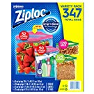 Ziploc Storage Bags A Variety Collection (347 Variety-Pack)