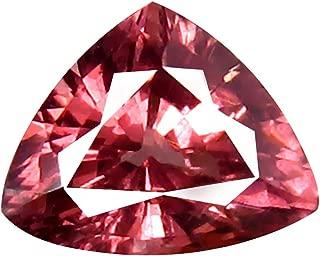 0.78 ct AAA+ Grade Trillion Shape (6 x 5 mm) Unheated Pink Malaya Garnet Natural Loose Gemstone
