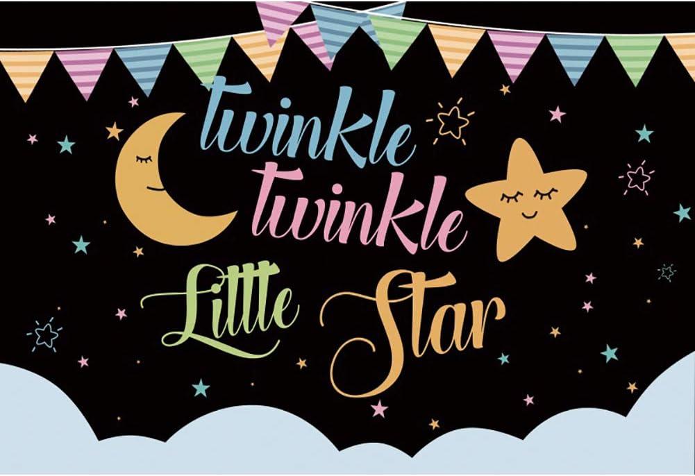 DASHAN 5x4ft Baby Shower Backdrop Seattle Mall Star shop Little Ph Twinkle