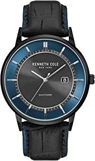 Kenneth Cole Men's Quartz Watch, Analog Display and Leather Strap KC50784002