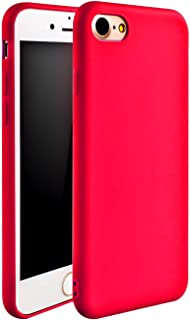 iPhone 7 Case, iPhone 8 Case, iEugen [Ultra-Thin] & [Soft Touch] Premium TPU Protect Cover for iPhone 7/8 4.7 inch (red)