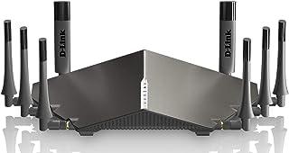جهاز راوتر لاسلكي دي-لينك بتيار متناوب 5300 نطاق ثلاثي(11a/b/g/n/ac)، احمر، 4 منافذ جيجابت، 6 هوائيات خارجية، منفذ مشاركة ...