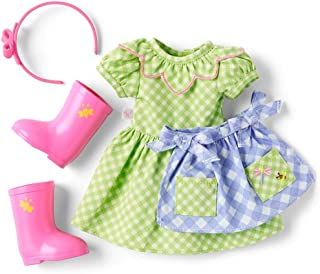 """American Girl WellieWishers Cute as a Bug Gardening Outfit for 14.5"""" Dolls"""