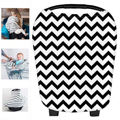 multi-usages Bio en coton/Lycra d'allaitement allaitement Coque auto pour bébé Housse de protection pour auvent Shopping Cart Housse Nid d'ange pour bébé nouveau-né tout-petits Douche Cadeau