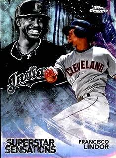 2018 Topps Chrome Superstar Sensations Refractors #SS-8 Francisco Lindor Indians Baseball Card NM-MT