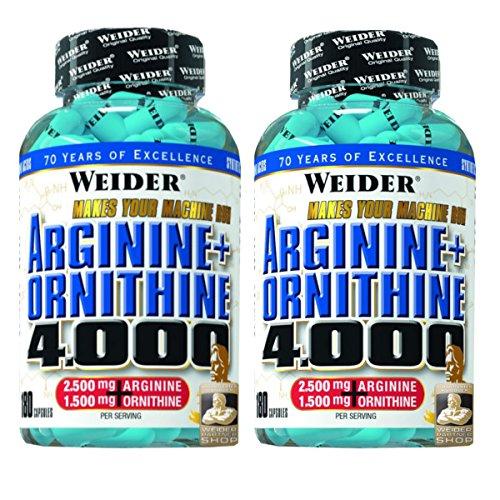 Weider Arginine plus Ornithine 4000- 180 Kapseln, 2er Pack (2 x 180 Kapseln) Weider-Partnershop