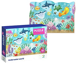 Dodo D300378 Educational Underwater World Puzzle 60 Pieces, Various