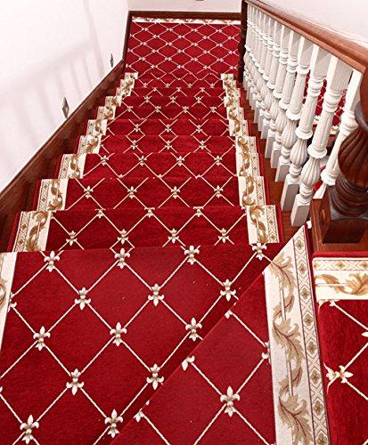 Wwdp European-Style Staircase Pad, Staircase Staircase tappetini zerbino Tappetino Antiscivolo Durevole