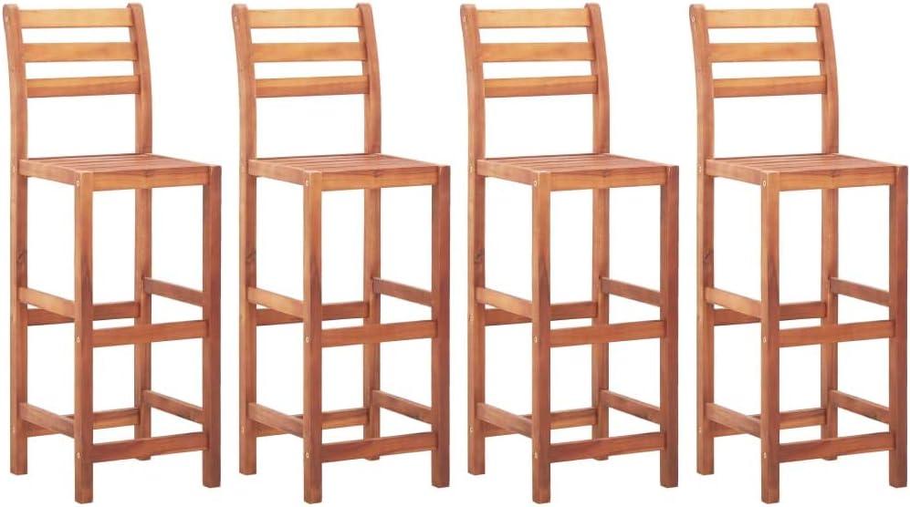 YTDTKJ Bar Stools Limited time cheap sale Ranking TOP9 4 Wood Acacia pcs Solid