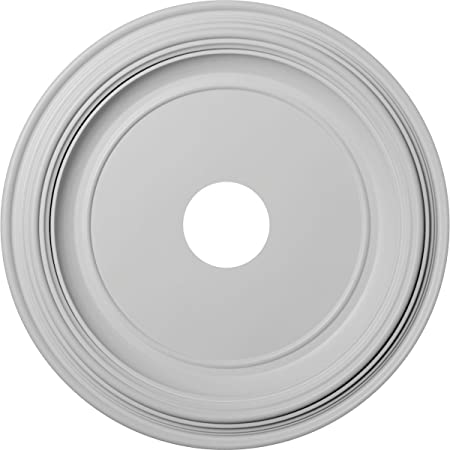 Ekena Millwork Cm24di Diane Ceiling Medallion 24 Od X 3 5 8 Id X 1 1 4 P Fits Canopies Up To 6 1 4 Factory Primed Decorative Tiles Amazon Com