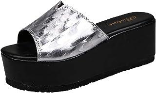 Dames outdoor sandalen krokodilmond Mid Wedge Plateau Slip On Slingback zomer strandschoenen