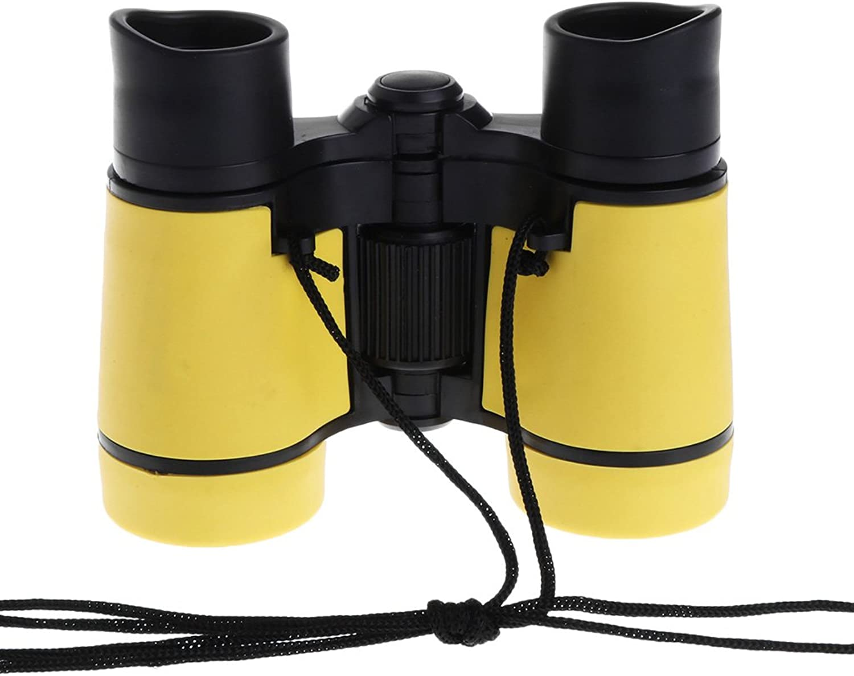 RuiruiNIE 4x30 Kunststoff Kinder Fernglas Teleskop Für Kinder Spiele Im Freien Spielzeug Kompakt  yellow