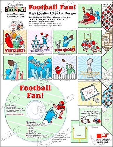 ScrapSMART - Football Fan - Clip Art Software Collection - Jpeg & PDF files (CDFF132)