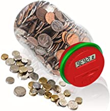 HeQiao Digital Large LCD Coin Bank for US Coins (red Green)