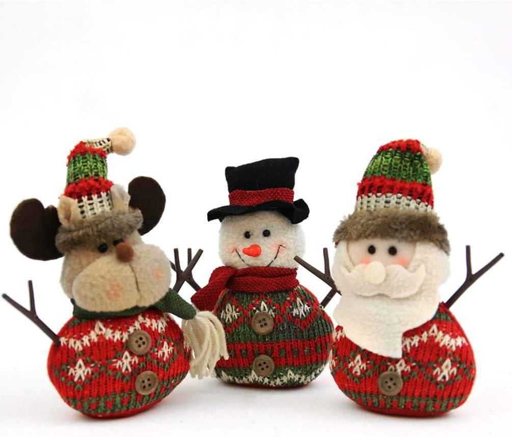Tvoip 3Pcs Christmas Decor Dolls Very popular! National uniform free shipping Santa Snowman Reindeer Ha Claus