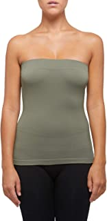 SENSI' Canotta Top Donna Senza Spalline Cotone Senza Cuciture Seamless - Made in Italy