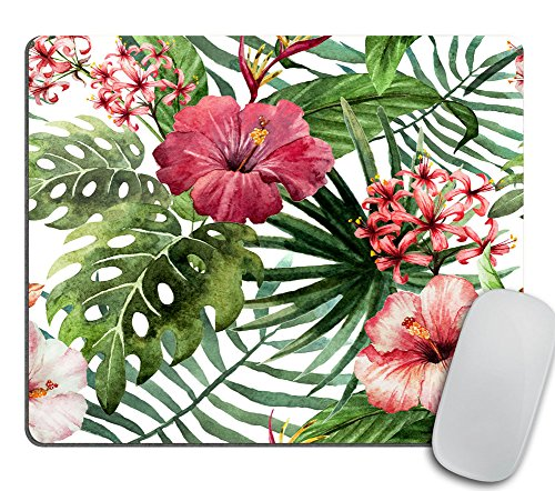 Mouse Pad Mousepad Tropical Leaves Print Mouse Mat Mouse Pad Office Mousemat Rectangular Mousemat Hawaii Hawaiian Tropical Palm Print Mousepad