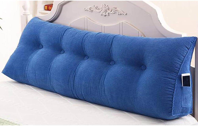 RUYII Coussin De Lit Canapé Prougeecteur D \\ 'Oreiller Coussin D \\' Oreiller Lombaire Housse Détachable,bleu-200×50×20cm