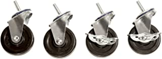 "Seville Classics SHE24004 Steel Wire Shelving System Casters, 3"" Diameter, Set of 4"