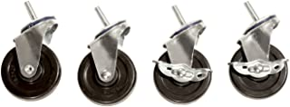 Seville Classics SHE24004 Steel Wire Shelving System Casters, 3