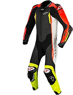 Alpinestars GP Tech v2 Leather One-Piece Suit (Tech Air Compatible) (54) (Black/White/Red Fluo/Yellow Fluo)