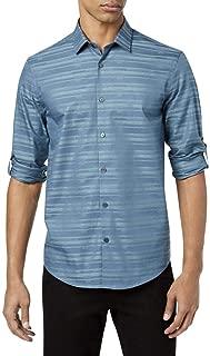 Alfani Mens James Striped Button Up Shirt