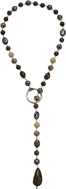 Alexis Bittar - Crystal Encrusted Baroque Pearl Lariat Necklace