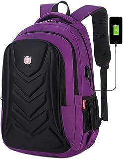 Suitable for Outdoor Activities Men's Outdoor Multifunction Waterproof Computer Backpack (Color : Purple, Size : 32x46x15cm)
