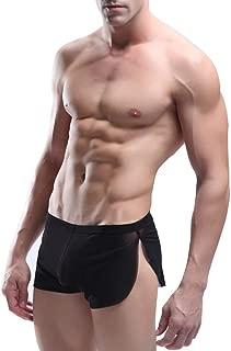 iiniim Men's Mesh Split Side Boxer Briefs Underwear Shorts Breathable Panties