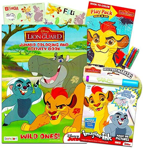 Disney Junior Lion Guard Coloring and Activity Book Set Lion Guard Imagine Ink Book Jumbo Coloring product image