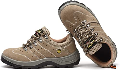 YJ-Print Men's Wohommes Work Safety chaussures, Breathable Outdoor Steel Toe Footwear Industrial and Construction chaussures,Hiking chaussures,Anti-Slip,Anti-Smashing and Anti-Piercing