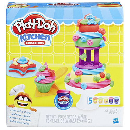 Play-Doh Kitchen Creations Frost Fun Cakes, Ages 3 Years and Up