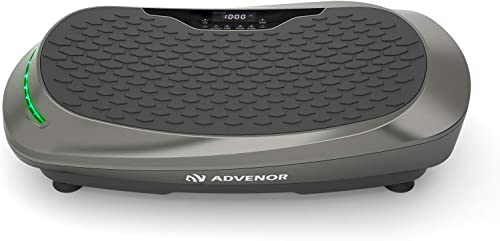 ADVENOR 4D Vibration Plate Exercise Machine Triple Motor 120 Speed w/Loop Bands Whole Body Workout Fitness 3D/4D Vibr...
