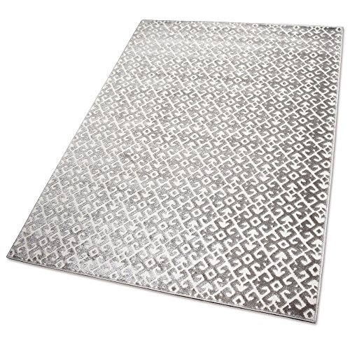 Balta Rugs Indoor-Teppich Clips and Barbs Greybrown L 140 x 200 cm Kunststoff