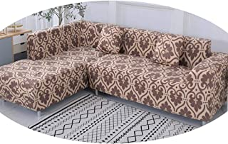 ZFADDS Geometric Pattern 1 Piece/ 2 Pieces Sofa Cover for L Shaped Sectional Sofa Couch Cover Sofa Towel Sofa Covers,Color 19,4-Seater 235-300Cm
