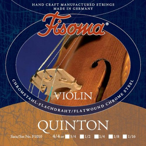FISOMA Quinton Saiten für Violine 4/4 Satz - die anspruchsvolle Schülersaite, mit prachtvollem, reinen Ton bei Leichter Ansprache - Made in Germany