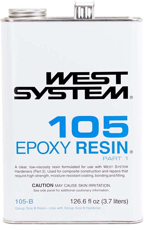 WEST SYSTEM 105 Epoxy Resin (.98Gallon 10.3-Pounds)