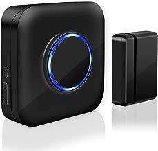 Wireless Door Sensor Chime BITIWEND Alarm Contact Sensor Door Bell for Office/Home/Store,Door Open Chime Window Alarm Operate Range 600ft With 52 Chimes 4 Volume Level,1 Door Sensor+1 Plug-in Receiver