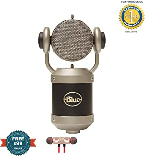 Blue Microphones Mouse Microphone Kc includes Free Wireless Earbuds - Stereo Bluetooth In-ear and 1 Year EverythingMusc Extended Warranty