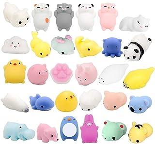 Fstop Labs 30PCS Mochi Squishy Animal Stress Toys, Mini Animal Squishy Stress Relief Animal Toys Mochi Squeeze Toys Mini S...