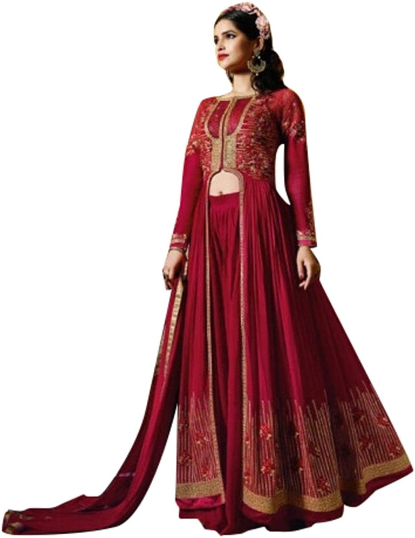 Mahroon Festival Bollywood Collection Anarkali Salwar Ceremony Punjabi Women suit 550