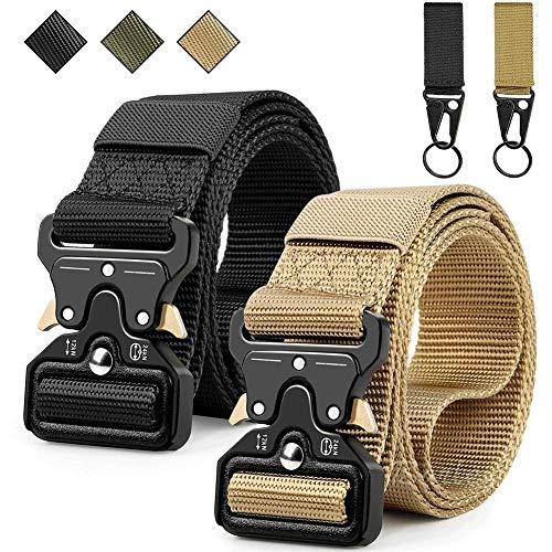 Barley Cintura Tattica, Cintura Militare Tattica per Uomo Heavy Tessuto in Nylon Cintura,Fibbia Cobra Cintura Resistente di Salvataggio per Sport e Caccia All'aria Aperta Cintura Militare