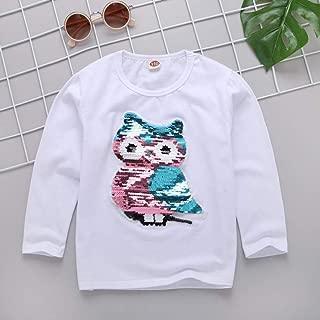 Nobrand 2020 Summer Fashion Color Changing Clothes Demi Flip Sequin Girls T-Shirt Children's Short Sleeve Tops Kids Cotton Tees