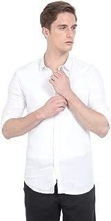 S54 Men's Viscose Linen Poly Collar Full Sleeve Casual Wear Shirt