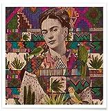 "JUNIQE® Frida Kahlo Poster 50x50cm - Design ""Viva La"